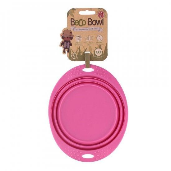 Becopets travel bowl small pink