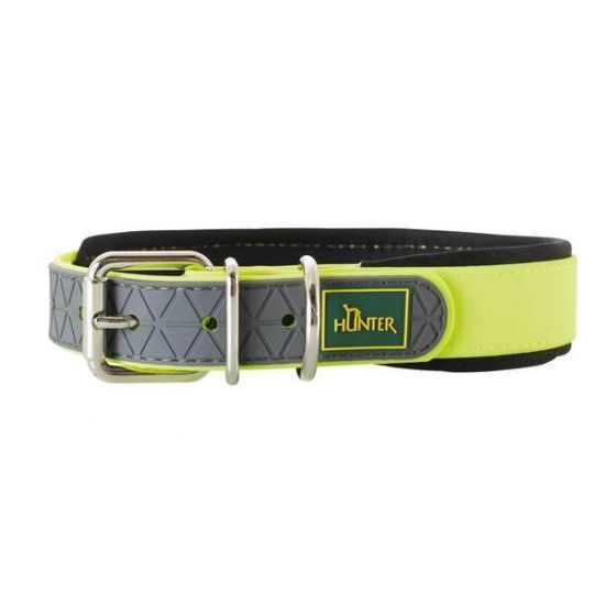 Hunter convenience halsband Comfort neongeel 55 cm / 25 mm zacht